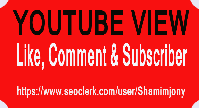 1,000 Youtube View 13 Like 5 Subscriber 5 Comment