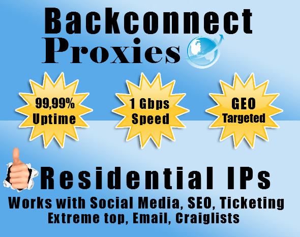 rent you 5 High Speed Backconnect Proxies for one month
