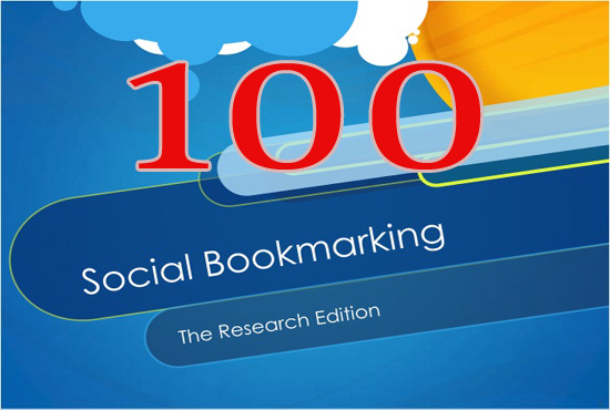 Manually Create 100 Social Bookmarking from high PR SEO social sites