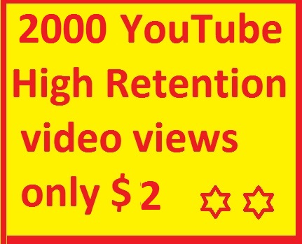 Super fast 2,000-3700 YouTube views 24 hours delivery time max only