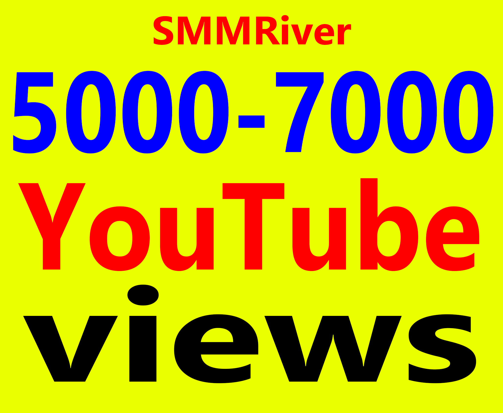 Fast 5000 To 7000 Views High Retention 99% Ad-sense Safe & Non Drop