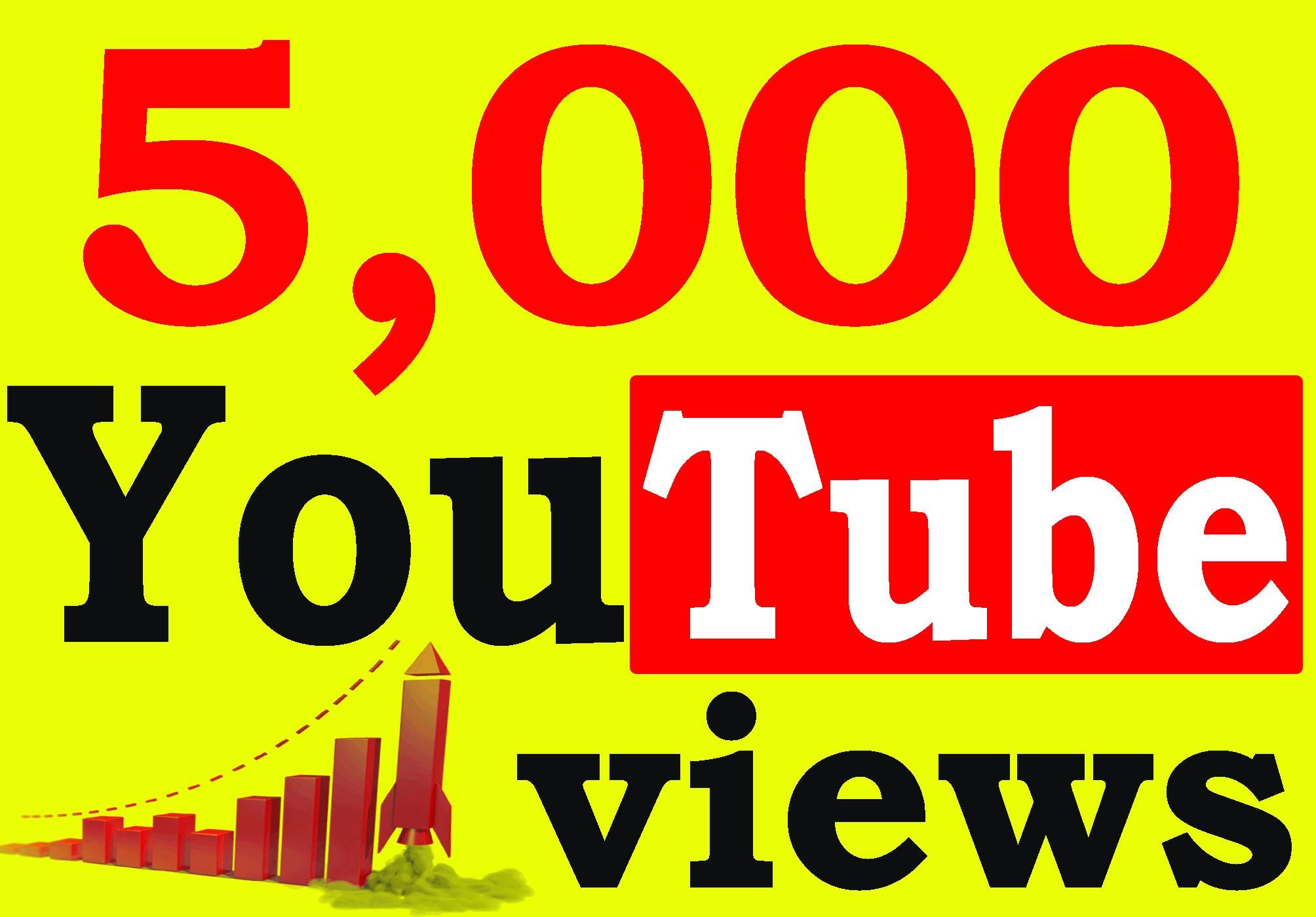 Fast 5000+ Adsense Safe HQ Retention 99% YouTube Views Non Drop
