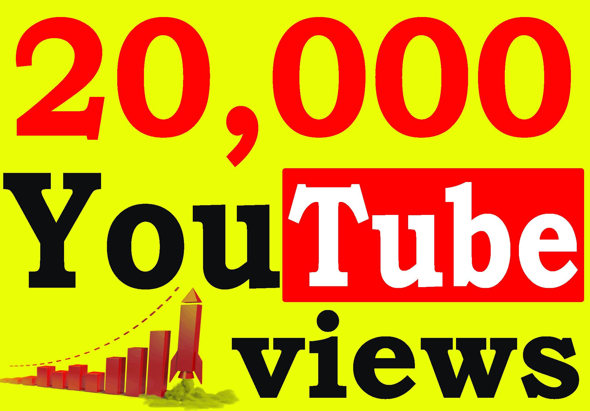 Fast 20,000+ Adsense Safe HQ Retention 99% YouTube Views Non Drop