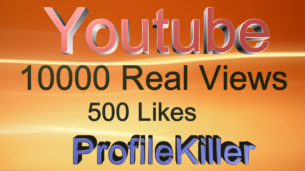 Youtube Combo 10000+ Real People views and 500 Real Likes