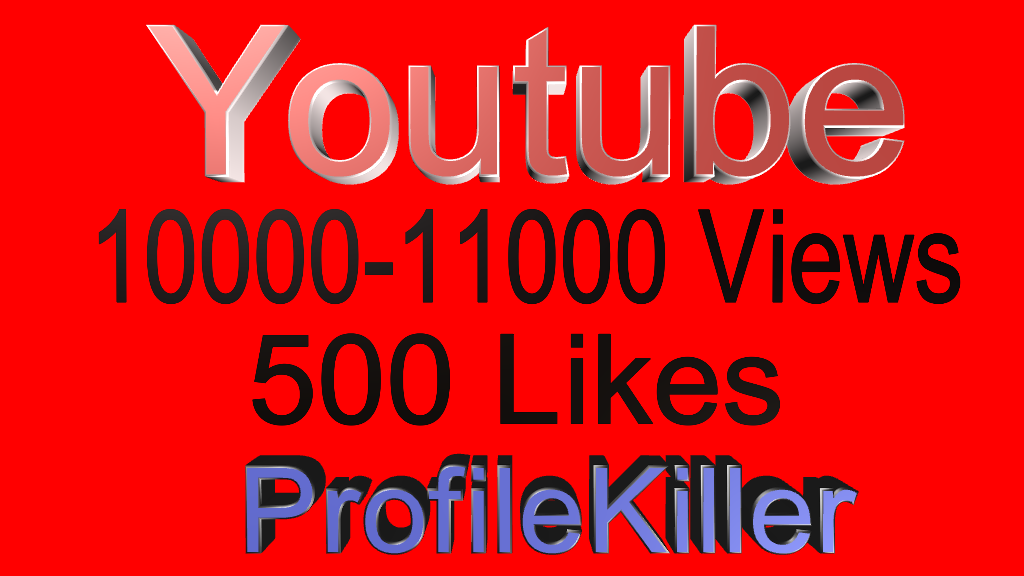 Youtube Combo 10000+  views and 500 Real Likes