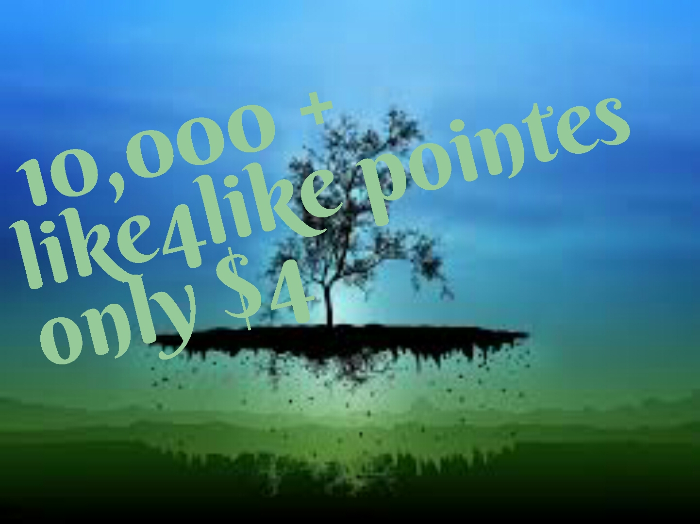 10,000 like4like pointes 2-3 minutes first delivery