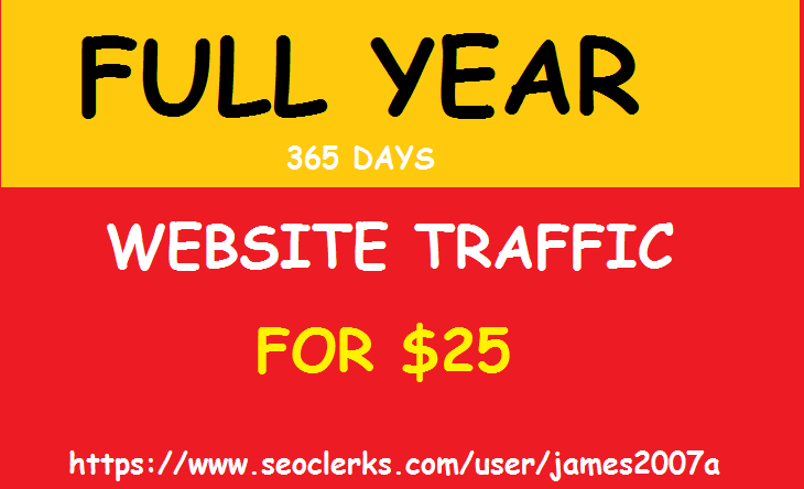 Adsense Safe UNLIMITED REAL Website TRAFFIC for 1 year