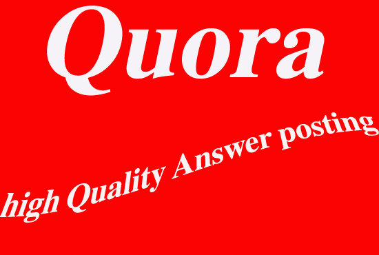20 Quora Answer with your keywords & url