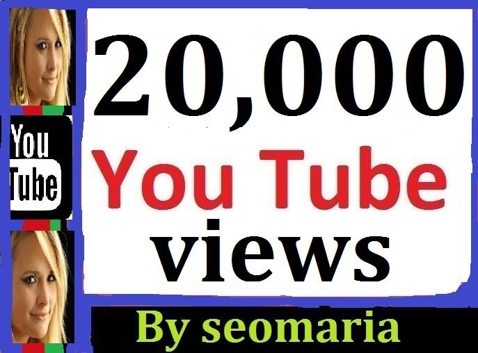 20,000 Safe/Non Drop YT Views + 107 Extra Bonus Likes