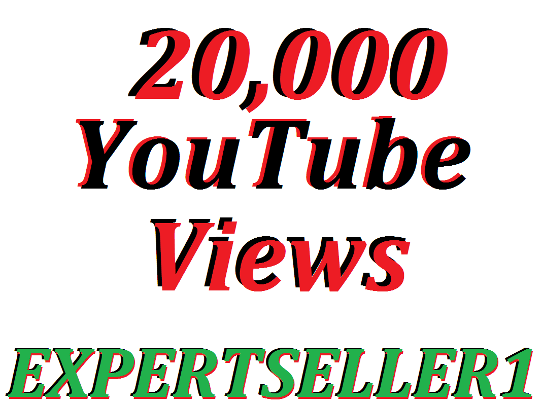 Limited Offer 20,000 HQ You-Tube Vie/ws In Your Video Refill Guarantee