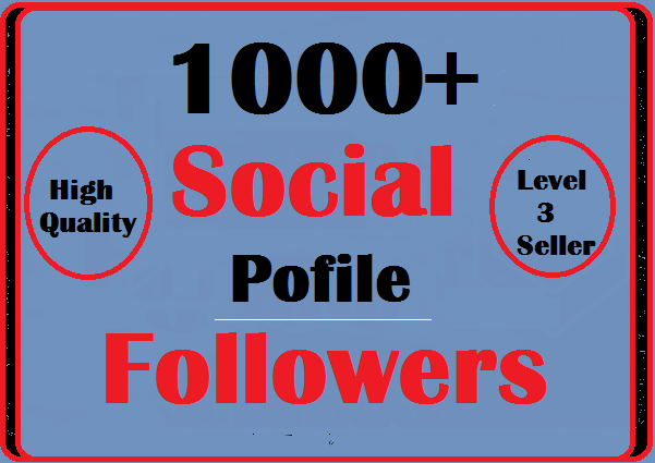 1000+ Social Profile Followers High Quality Instant S...