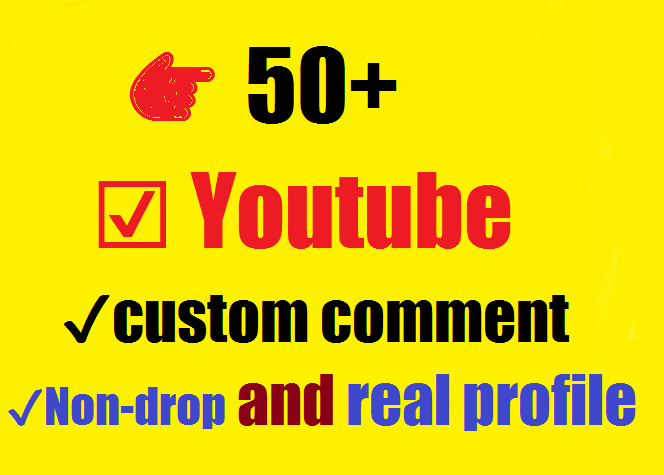 Instant 50+ Youtube custom comment with 100+ likes very fast 24-36 hours complete