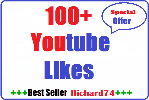 100+ youtube Likes very fast 4-8 hours complete just