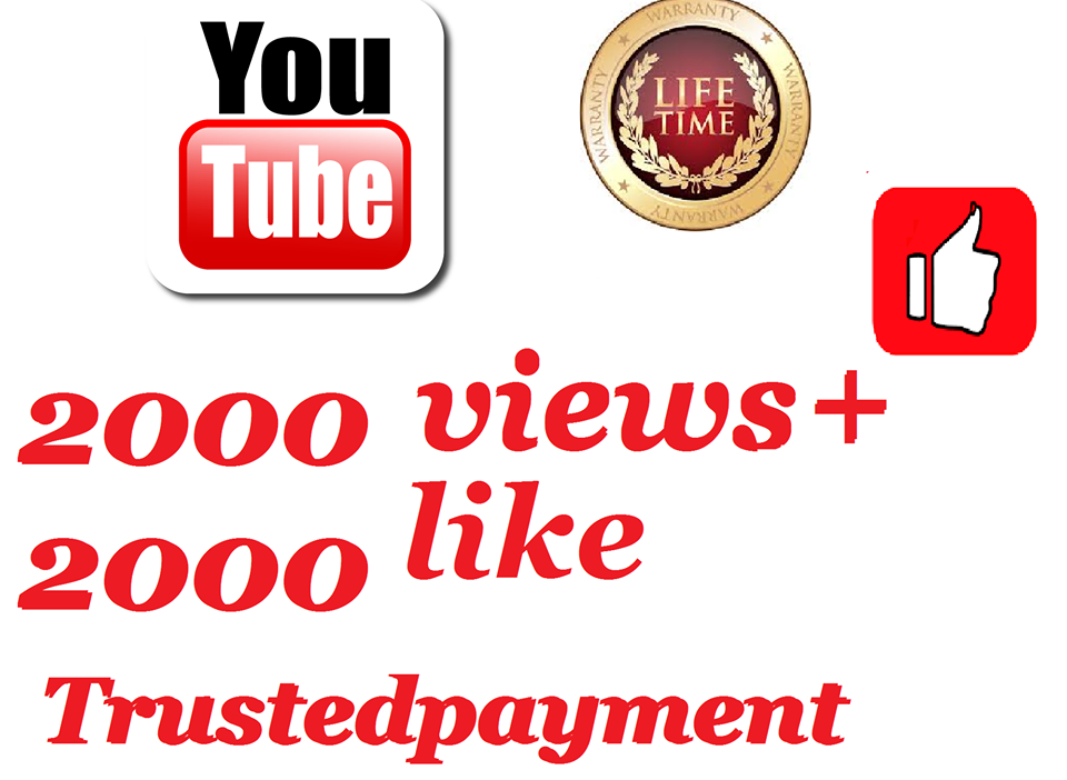 I will add super fast 1500 to 2500 Youtube views+ 2 like 1-12 hours delivery