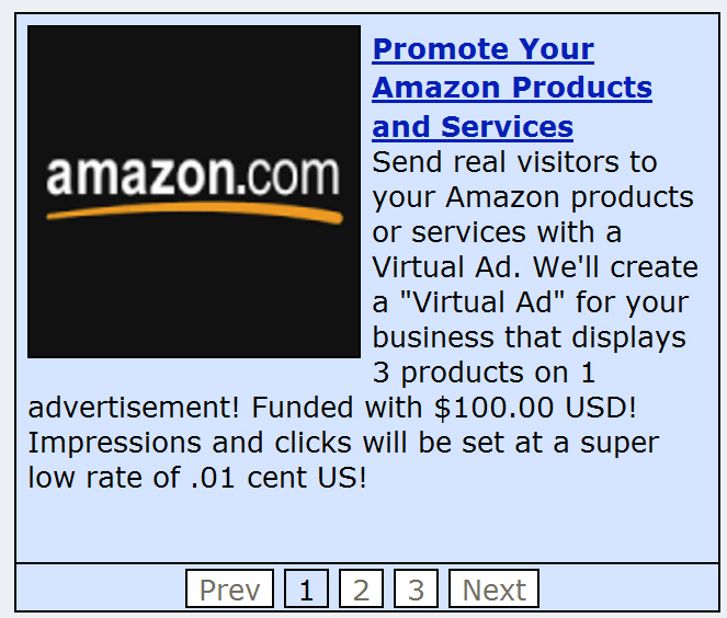 Get a $100 Virtual Ad that Displays 3 Products and Li... for $6
