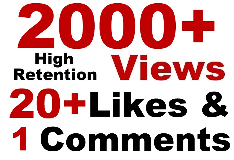 YouTube 2000 Views + 20 likes + 2 comment & subscriber SeoPromotion