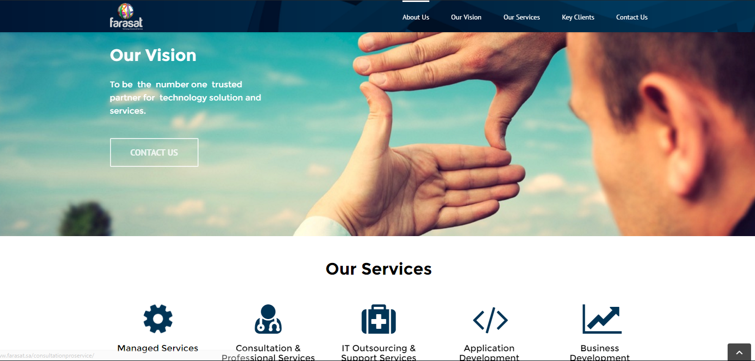 website template for technology company