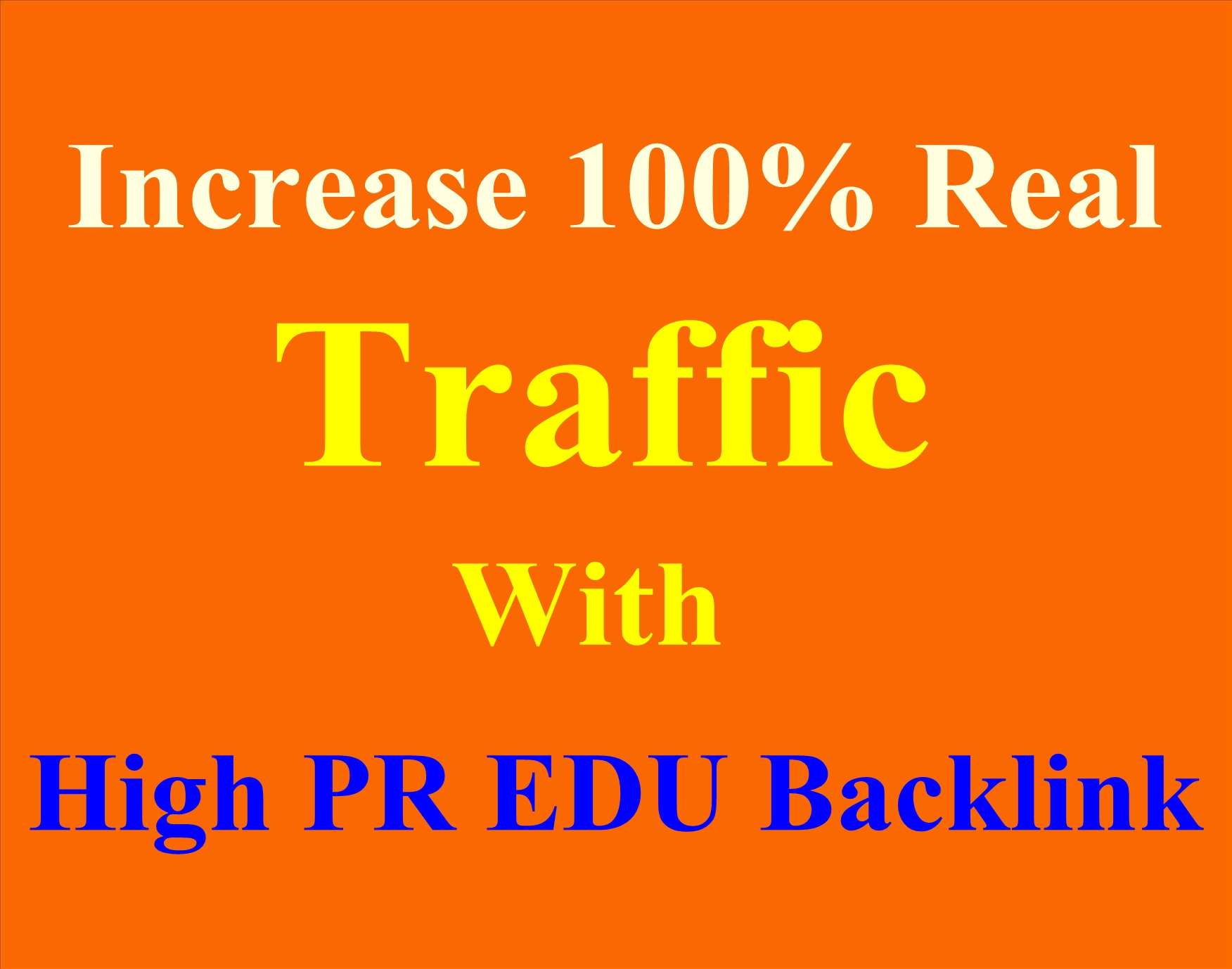 20 PR9 to PR 7 + 20 EDU/GOV high quality backlinks