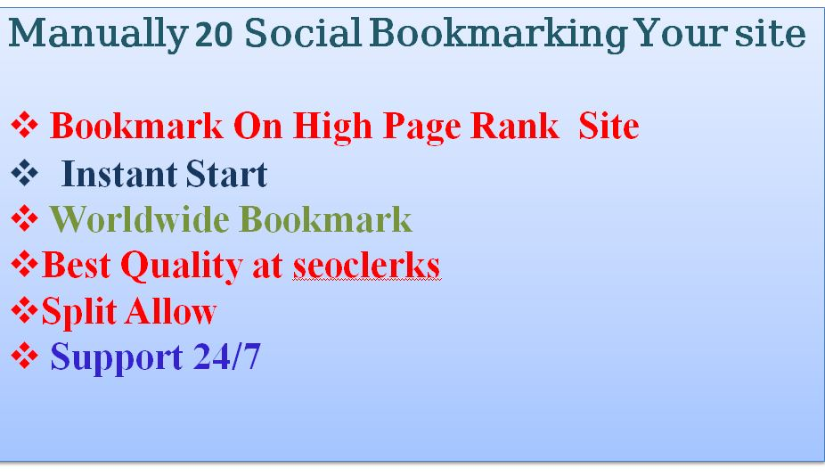 manually-20-High-PR-Social-Bookmarks-your-site-link
