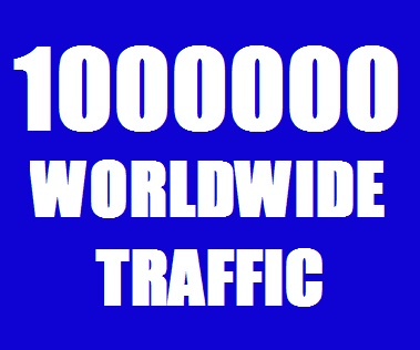 Real 10, 00,000 - 1 MILLION Website Traffic Worldwide