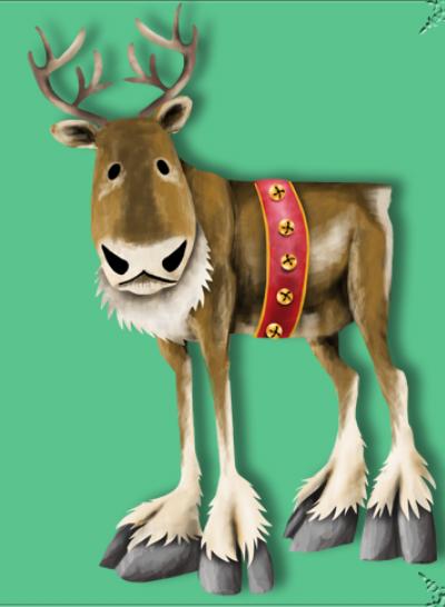 Color Christmas Cartoon Character