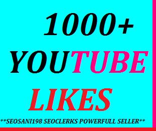 1000+YouTube likes or 150+manuallu subscribers or 60+YouTube custom comments or 200+YouTube auto comments