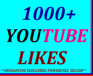 1000+YouTube likes or 50+YouTube custom comments or 100+manualy subscribers or 200+YouTube auto comments very fast delivery