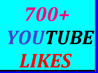 Guaranteed 700+YouTube likes or 50+YouTube custom comments or 100+YouTube manually subscribers or 150+YouTube auto comments non drop 6-12 in complete