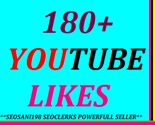 Get instant 180+YouTube likes or 15+YouTube custom comments or 20+YouTube subscribers or 50+YouTube auto comments very fast