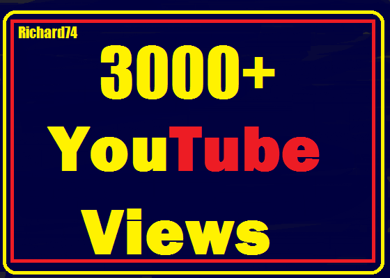 Instant start  3000+ to 4000+ Youtube vie ws Nondrop,Fully Safe Very Fast Refill guaranteed