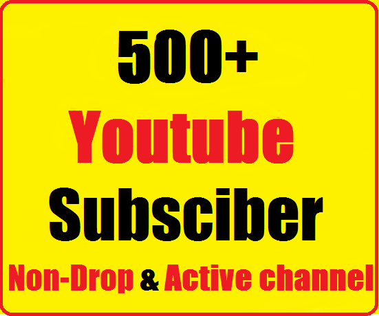 Instant start 500+ Youtube Channel Subscribers Non drop very fast