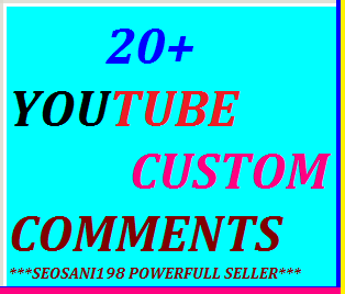 20+YouTube custom comments or 30+YouTube sub or 40+auto comments or 150 youtube likes very fast delivery