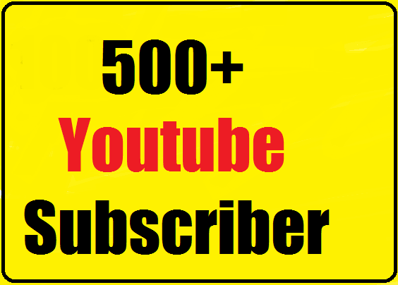 Instant start 500+ Youtube Real Channel Subs cribers non drop and safe