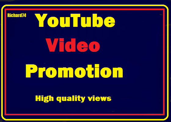 YouTube Videos  Promotion High Quality safe, very fast just