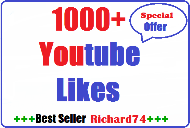 1000+ Youtube Likes very fast split availavle 5-7 hours complete