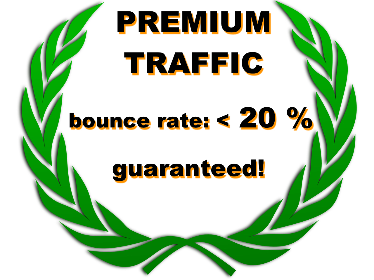 premium traffic, low bounce rate, high time on page