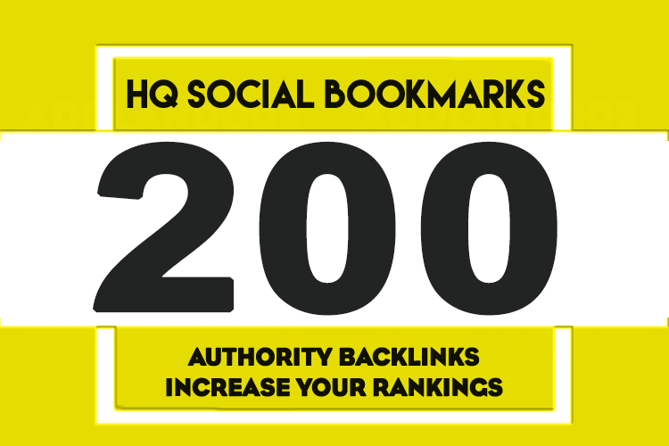 Add your site to 200+ SEO social bookmarks high quality backlinks, rss and ping