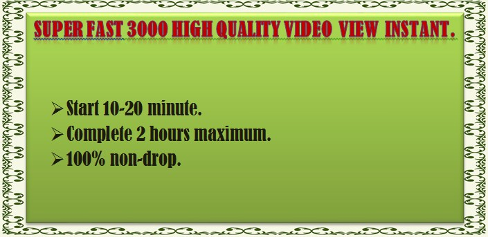 10000 HR non drop You Tube video view within 24 hours