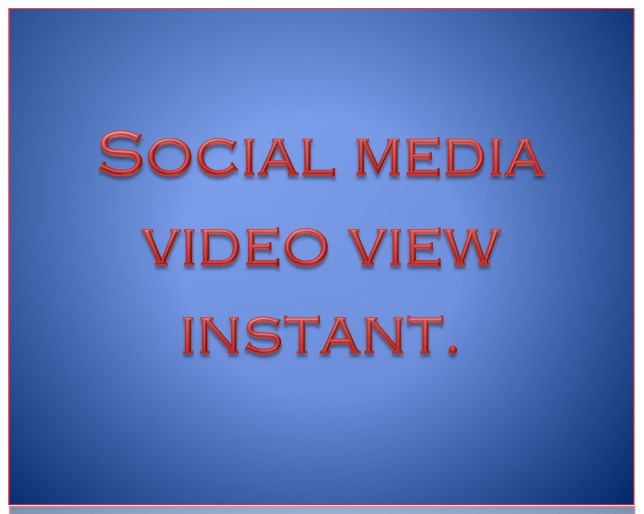 15000 High Quality Social Media Video View or Post Like Instant
