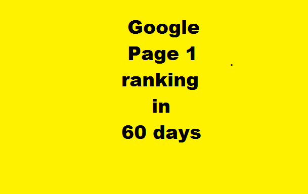 Google Page 1 Ranking in 60 days.+++ Manual Service ++