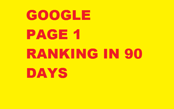 Google Page 1 Ranking in 90 days.+++ Manual Service ++