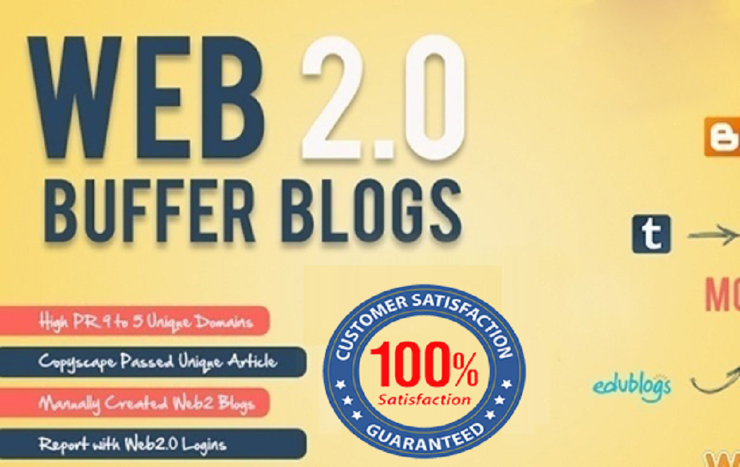 Create 15 Manually Web 2.0 High DA 30+ Blogs Sites