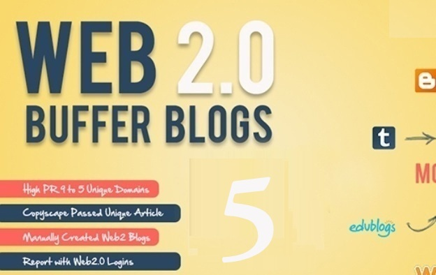 create 05 manually web 2.0 High DA 30+  blog sites Backlinks