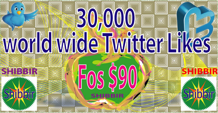 Give you 30,000 World wide Twitter Likes