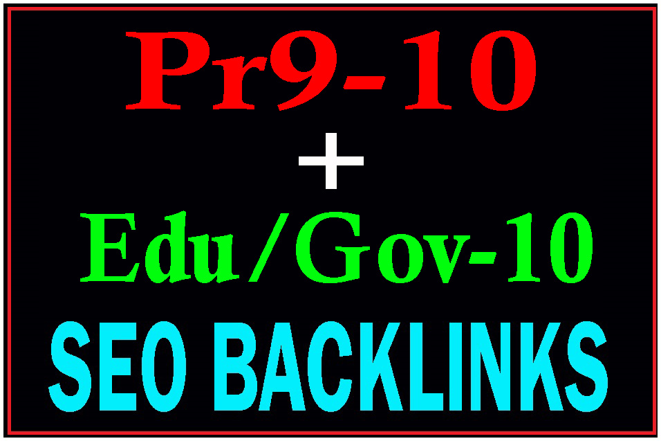 Manually Pr9-10 + Edu/Gov-10 Safe Seo High PR Seo Backlinks