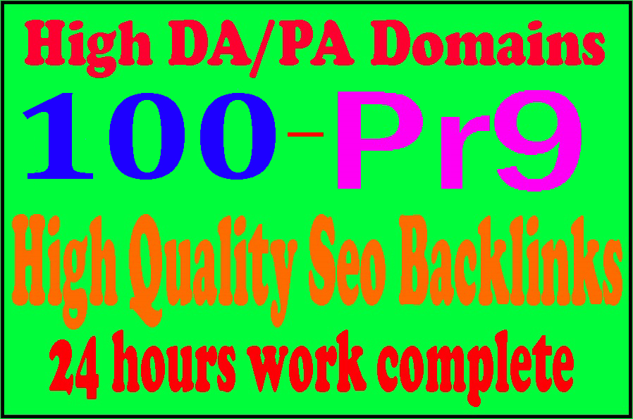 Manually Make 100 Pr9 + 10 Edu-Gov High Domains Authority Safe Seo Backlinks From - White Hat SEO