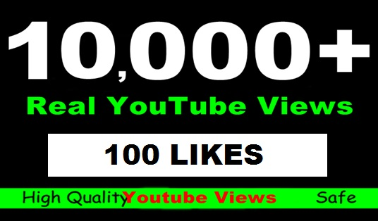 Give 10155+ High RETENTION YOUTUBE Views +100 Likes  Guaranteed Splittable in48 -96 hrs