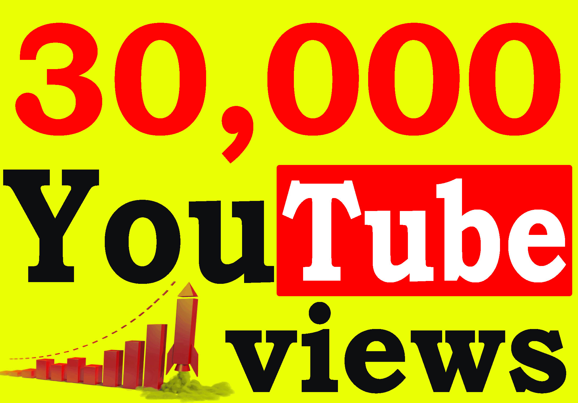 Fast 30,000+ High Retention 90 To 100 Percent YT Viiews