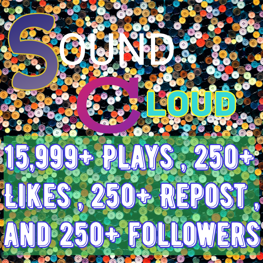 Soundcloud promotion get 14,999+ plays ,250+repost,250+ followers and 250+ likes
