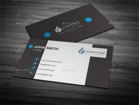 Get stylish eye catching business cards with unlimited revisions free psd